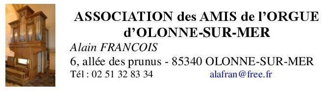 ASSOCIATION DES AMIS DE L'ORGUE D'OLONNE-SUR-MER